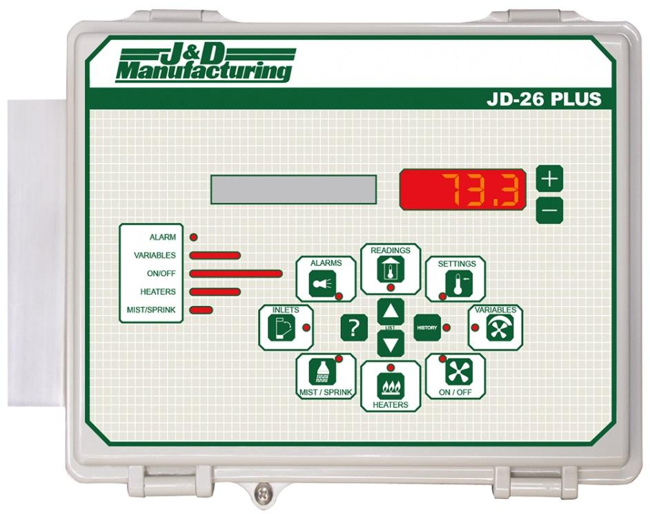 8 Stage Ventilation Control JD26PLUS