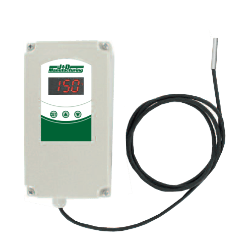 J & D Manufacturing Weather Proof Digital Temperature Switch w/ Sensor Single Stage JDDT1
