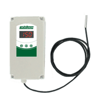 J & D Manufacturing Weather Proof Digital Temperature Switch w/ Sensor Two Stage JDDT2