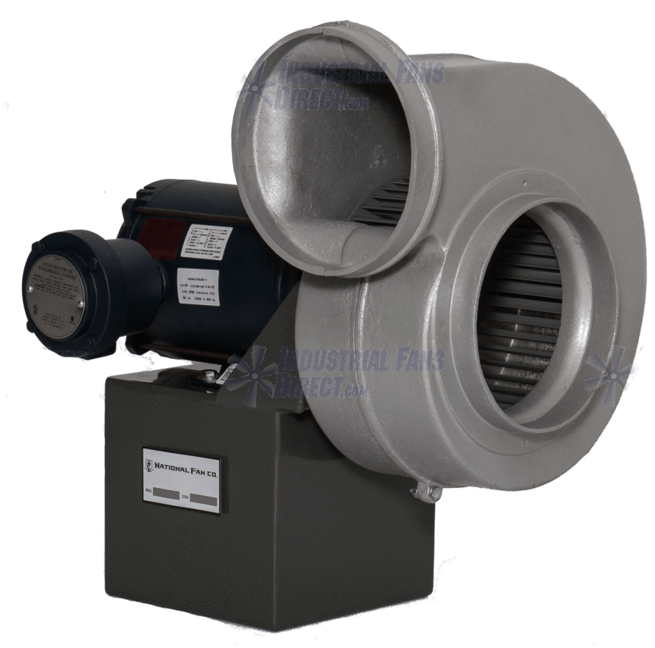 "AirFlo Spark Resistant Forward Curve Volume Blower 1550 CFM at 1/4"" SP 3 Phase NADB8-D-3-E"