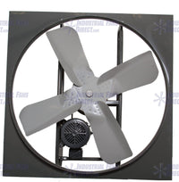 AirFlo-N600 Panel Mount Exhaust Fan 24 inch 6200 CFM Belt Drive 3 Phase N624-C-3-T