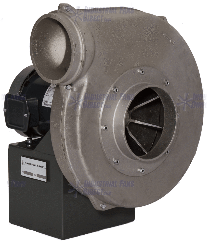 "AirFlo Aluminum Radial Pressure Blower 7 inch Inlet / 6 inch Outlet 1245 CFM at 1"" SP 3 Phase NHADP12M-3T"
