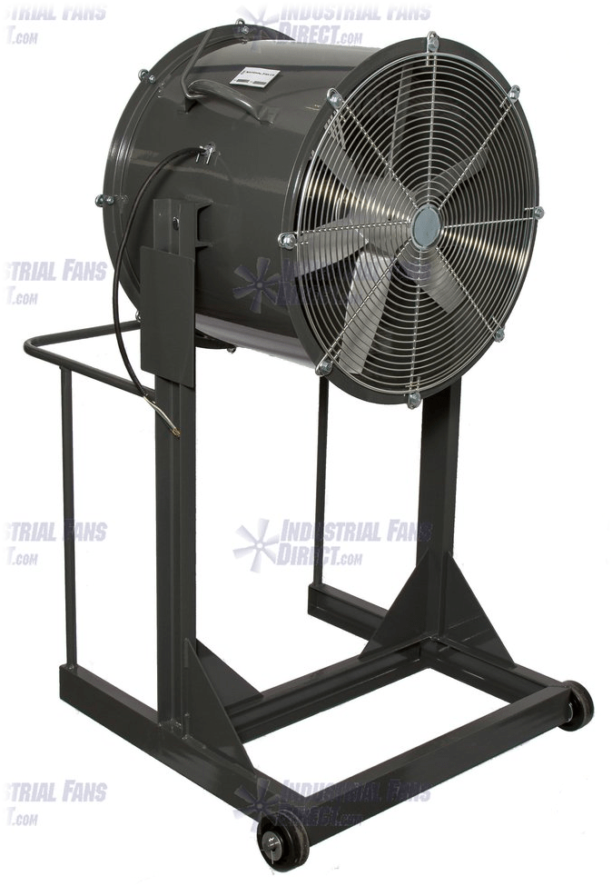 AirFlo Explosion Proof Man Cooling Fan High Stand 30 inch 16000 CFM 3 Phase NM30H-H-3-E