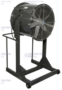 AirFlo Explosion Proof Man Cooling Fan High Stand 24 inch 7400 CFM 3 Phase NM24H-E-3-E