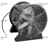 AirFlo Man Cooling Fan Low Stand 18 inch 3450 CFM NM18L-B-1-T