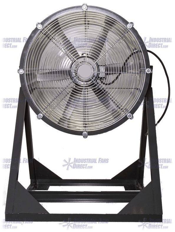 AirFlo Explosion Proof Man Cooling Fan Medium Stand 24 inch 7400 CFM 3 Phase NM24M-E-3-E