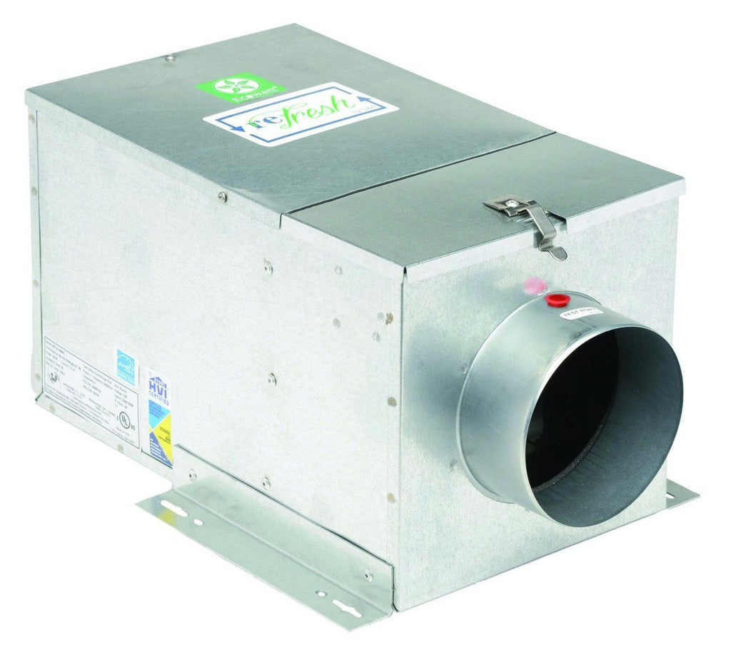 reFresh Outside Air Ventilation w/ ES24V Controller 8 Inch 140 CFM EC Motor RF8-120EC-ES24V