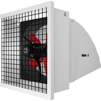 System 1 Shutter Panel Fan w/ Hood & Wireguard 24 inch 6203 CFM Variable Speed 240V S1246EQ2A