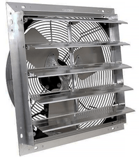 VES Enviro Solutions 24 inch 3 Speed Shutter Exhaust Fan w/ Cord Direct Drive SF2414C3