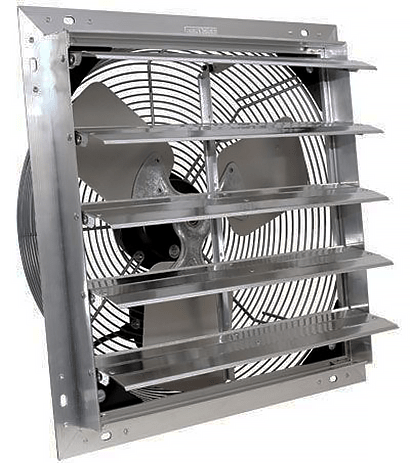 3 Speed Shutters Exhaust Fan w/ Cord 12 inch 1000 CFM Direct Drive SF12110C3