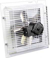 Non-Corrosive PVC Variable Speed Shutter Mounted Wall Exhaust Fan 12 inch 1000 CFM SFT-1200