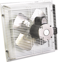 Non-Corrosive PVC Variable Speed Shutter Mounted Wall Exhaust Fan 16 inch 2500 CFM SFT-1600