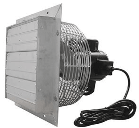 Variable Speed Shutter Exhaust Fan w/ Cord 16 inch 1890 CFM Direct Drive SFV16C