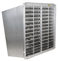 Typhoon Slant Wall Exhaust Fan 24 inch 5180 CFM Variable Speed w/out Cone Direct Drive VNS24S
