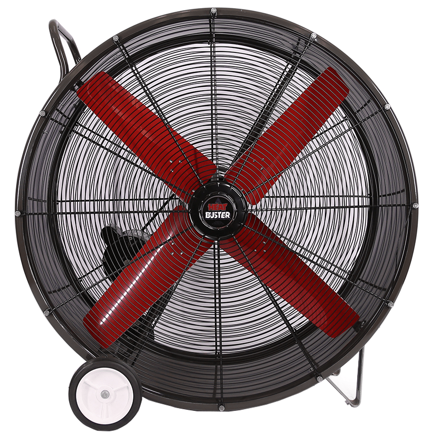 42 Inch Portable Fan : Tpc heat buster portable drum fan speed inch
