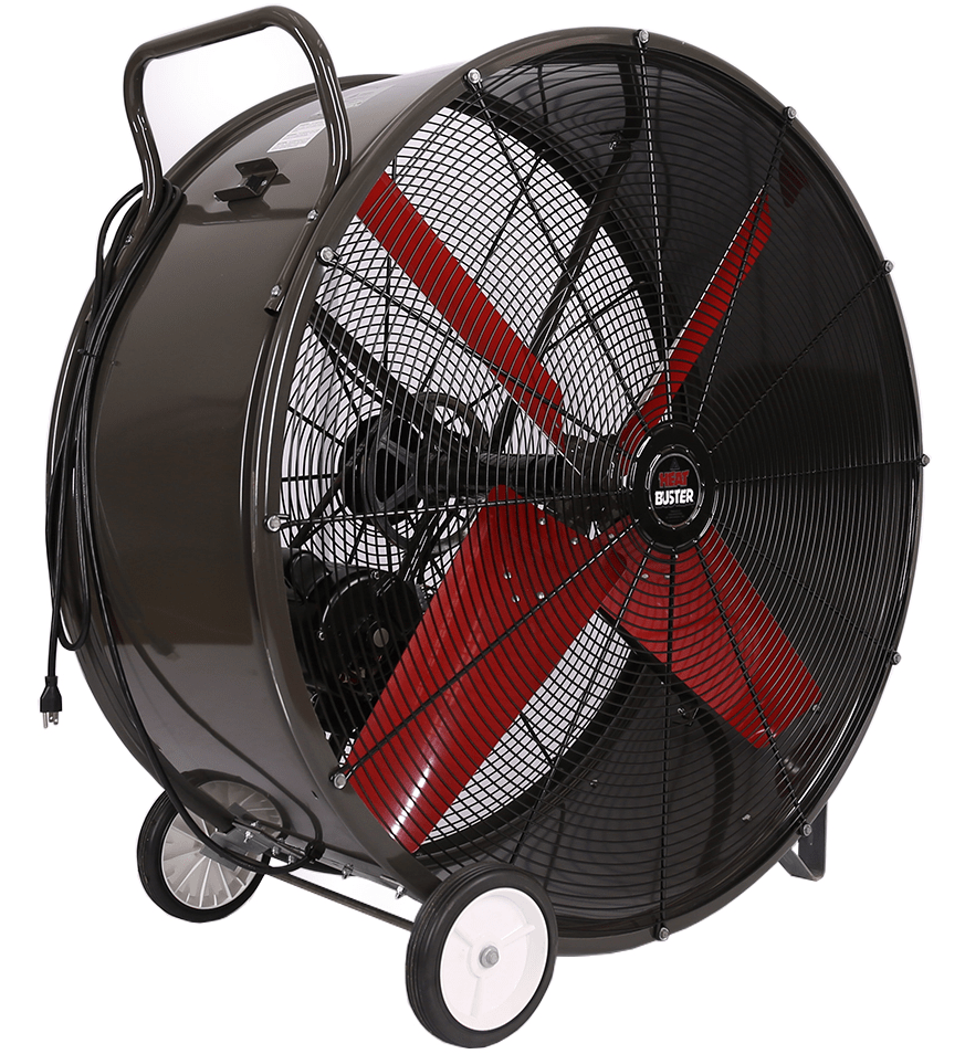 Portable Drum Fan : Tpc heat buster portable drum fan speed inch