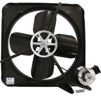 V Panel Exhaust Fan 2 Speed 36 inch 10900 CFM Belt Drive V3623