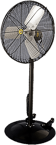 Industrial Heavy Duty Black Pedestal Fan w/ Wheels 2 Speed 20 Inch 4600 CFM VDF20WB2