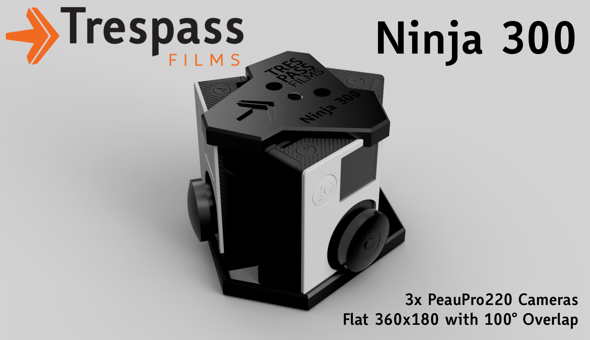 Ninja 300 - 360 degree<br/>3 GoPro Camera Rig
