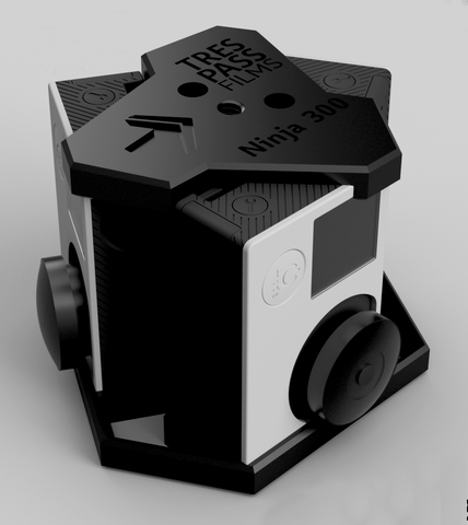Ninja 600 - 360 degree<br/>6 GoPro Camera Rig