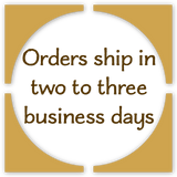 Orders ship in two to three business days