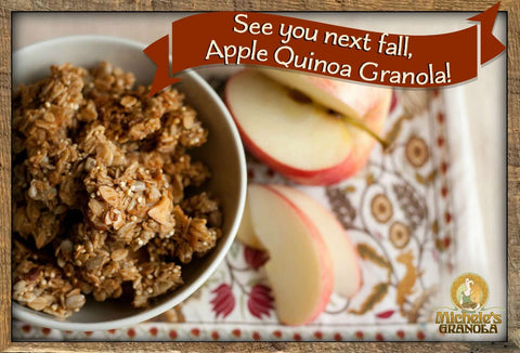 What a Year for our Apple Quinoa Granola!