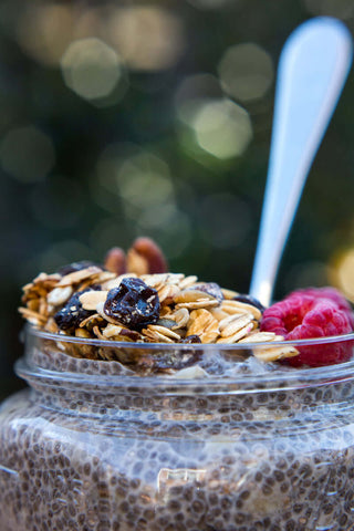 Overnight Maple Cinnamon Chia Pudding with Michele's Toasted Muesli