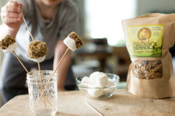 Recipe: Ginger Hemp Granola S'mores Pops {V}