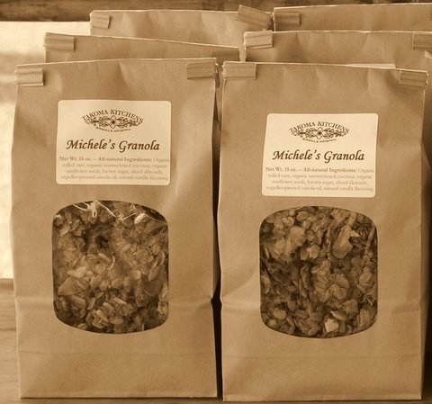The very first bags of Michele's Granola