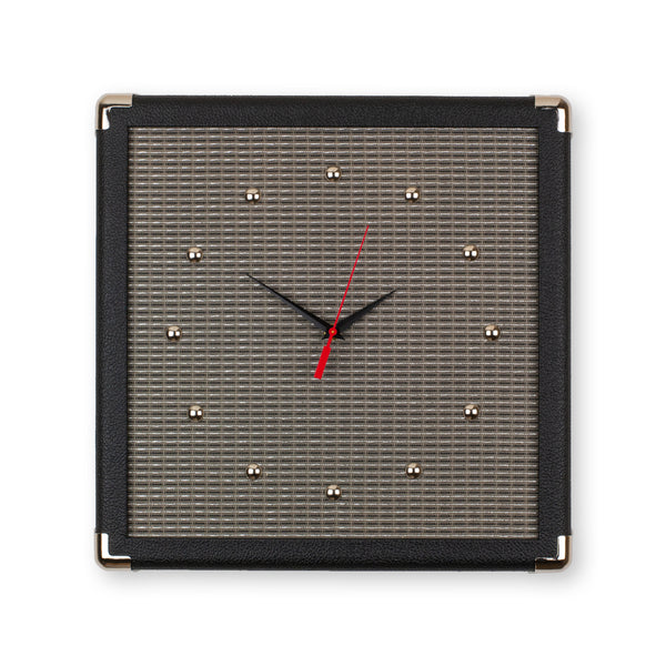 "15"" Handcrafted Amp Replica Wall Clock - Black"