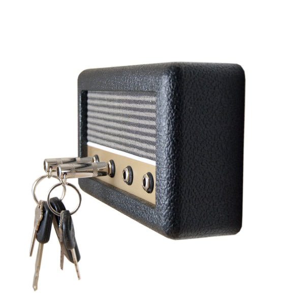 Handcrafted Wall mounted Guitar Amp Key Holder by DropLight Ind.