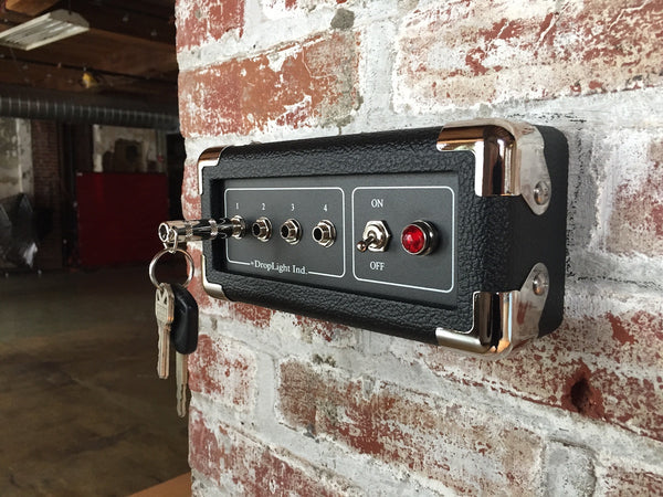 The Hammer mini guitar amp key holder by DropLight Ind.