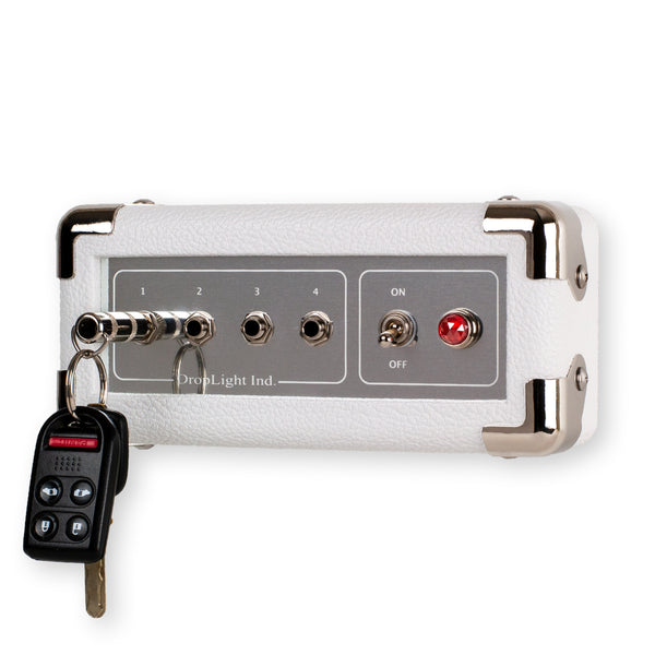 White Guitar Amp Wall Mounted Key Holder by DropLight Ind.