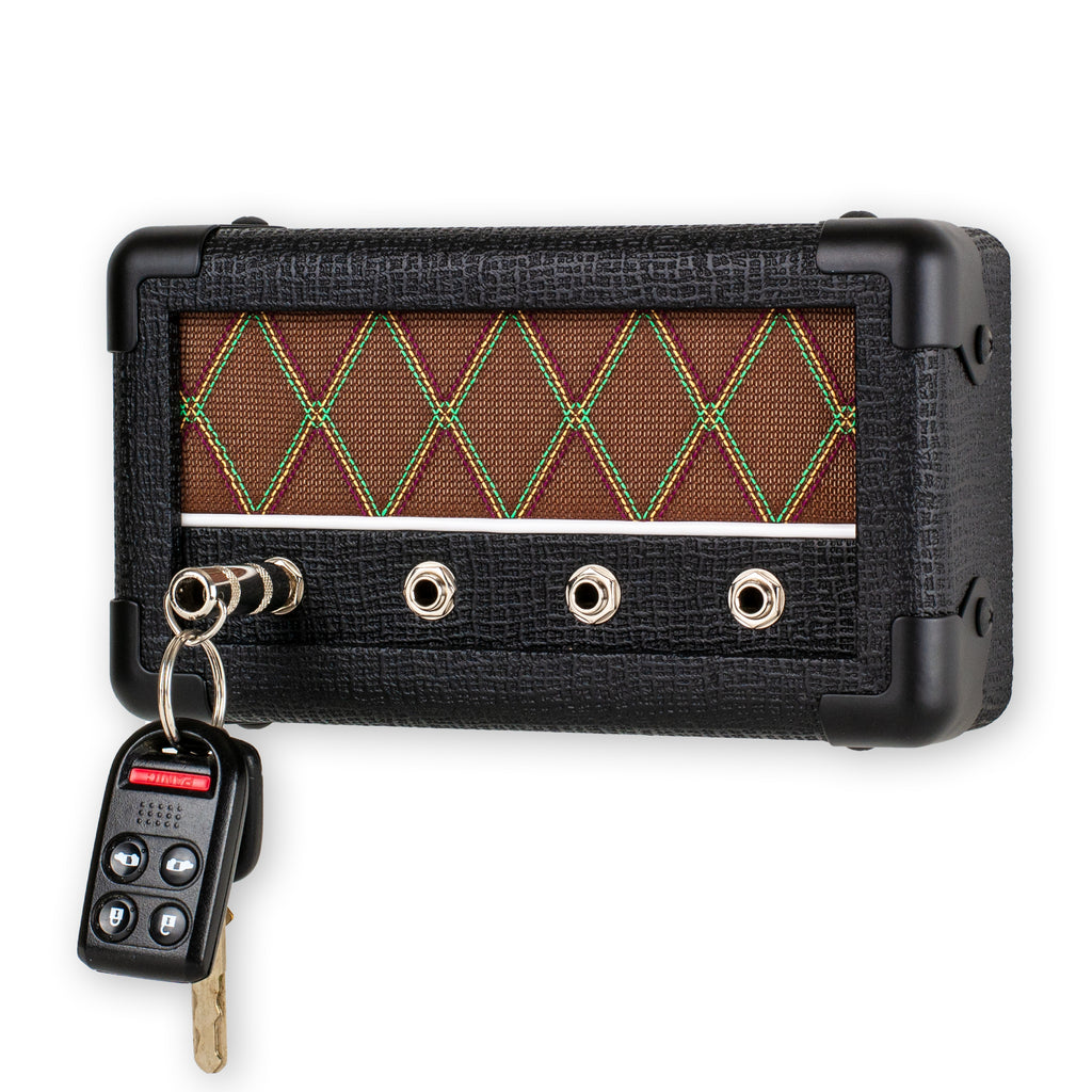 Handcrafted Guitar Amp Key Holder Black Diamond Combo by Droplight Ind.
