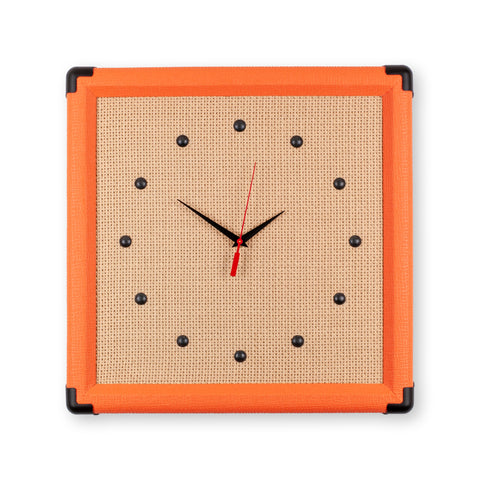 "15"" Handcrafted Amp Replica Wall Clock - Orange"