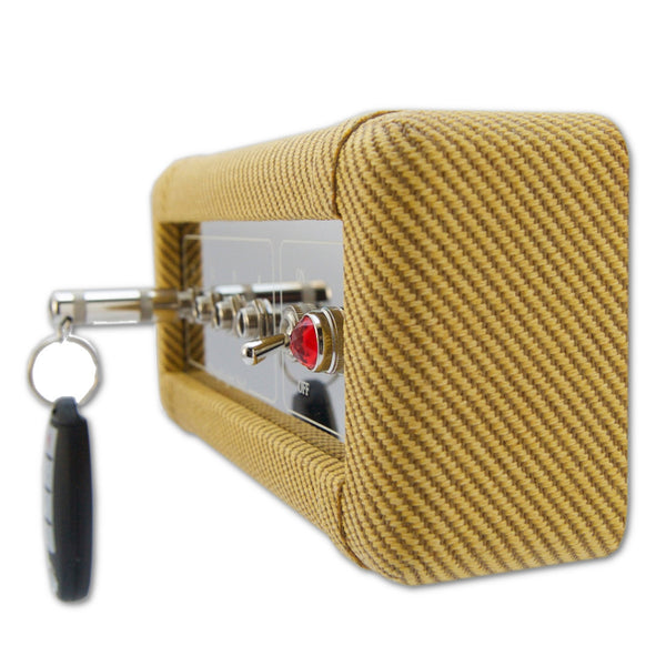 Wall Mounted Tweed Guitar Amp Key Holder Handcrafted by DropLight Ind.