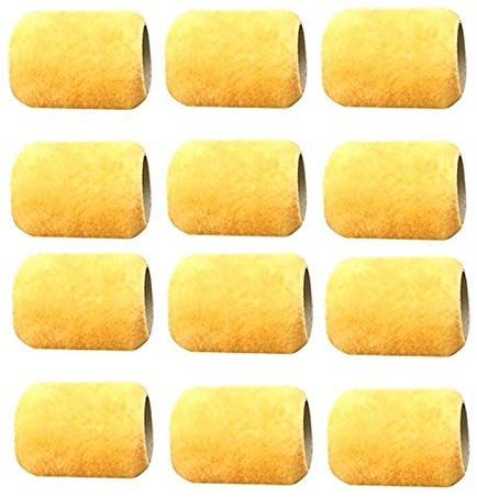 "12 Mini 3"" ALAZCO Paint Roller Refill Covers ""NO SHED"" for Painting Trims, Edges, Corners, Small Areas"