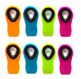 8pc Alazco Neon Color Silicone Secure Grip Magnetic All-Purpose Bag / Refrigerator Clips