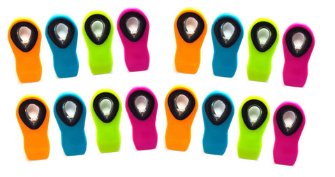 12pc Alazco Neon Color Silicone Secure Grip Magnetic All-Purpose Bag / Refrigerator Clips