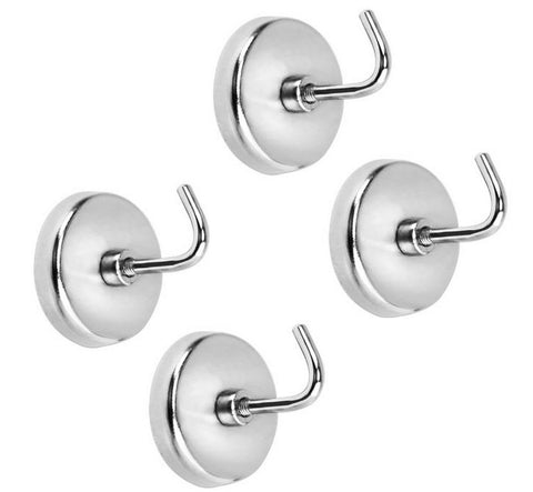4-Piece Extra Strong Chrome-Plated Magnetic Hook Set