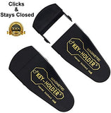 4 Large ALAZCO Magnetic Hide-A-Key Holder for Over-Sized Keys, Car House Shed Boat Spare Keys - Extra-Strong Magnet