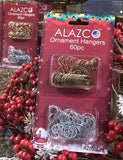 "ALAZCO 120pcs Silver & Gold Swirl Decorative Ornament Hooks 2"" Long Excellent Quality S-Shape Spiral Christmas Holiday Ornament Hanger Hooks - Hang Ornaments from Trees, Garlands and Wreaths"