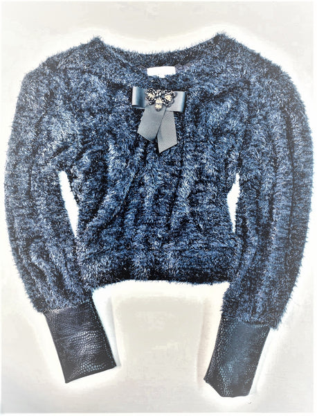 Dark blue furry Sweater