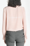 Light pink bow blouse