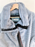 Vintage blue furry jacket