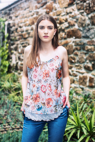 Light blue flower Top