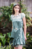 Light Green silk Dress