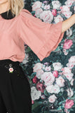 Blouse 'puff' dusty pink