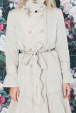 Trench coat, beige-gray