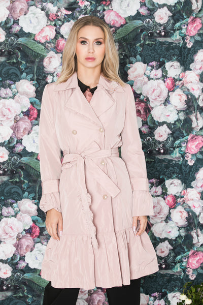 Trench coat, Pink